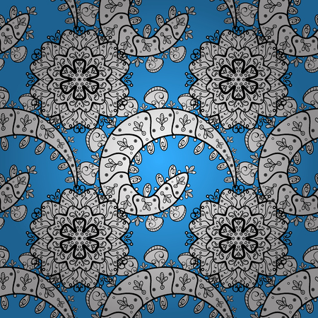 Vector illustration. Oriental vector classic blue and white pattern. Seamless abstract background.