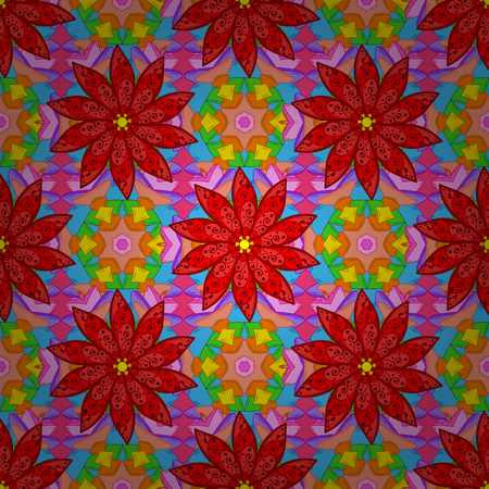 Seamless pattern in small flower. Vector illustration. Cute floral background. Beautiful fabric pattern.