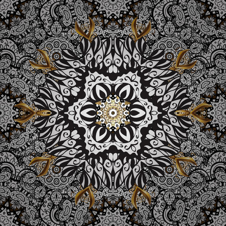 Vector vintage baroque floral seamless pattern in white. White pattern on a background with white elements. Ornate decoration. Luxury, royal and Victorian concept. Illustration