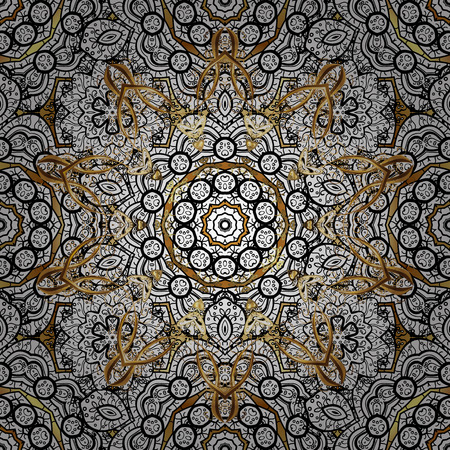 royals: Traditional vector and golden pattern. Classic oriental pattern over background. Damask ornament. Illustration