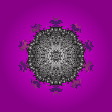?rystal snowflake in colors on colorful background. Vector illustration. Illustration