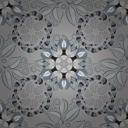 Flat Flower Elements Design. Vector illustration. Flowers pattern. Colour Spring Theme seamless pattern Background. Seamless Chichi fabric pattern.
