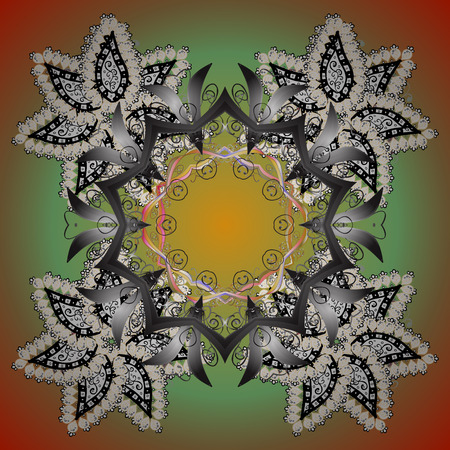 Snowflake isolated on gray background. Winter mandala. Snowflake Icon. Snowflake Vector illustration. Illustration