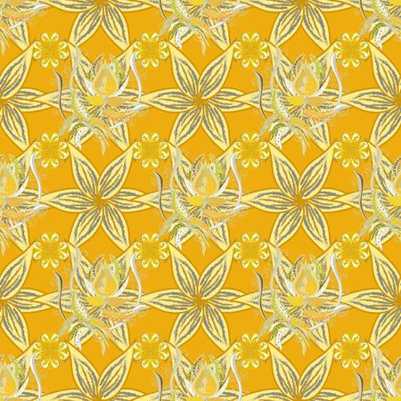 Seamless flower background pattern