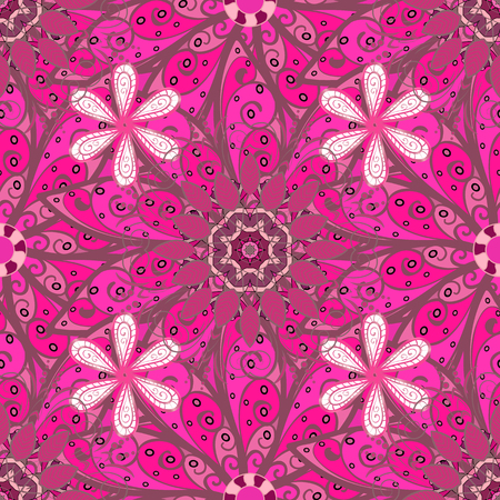 rejoicing: Flowers watercolor seamless pattern. Vector Stylish fabric pattern. Illustration