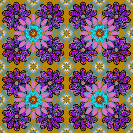 Seamless flower pattern can be used for sketch, website background, wrapping paper, invitation, flyer, banner or website. Hand drawn Vector illustration. Of doodle elements. Illustration