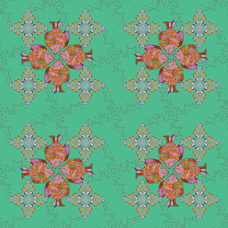 Vector frourish texture. Seamless floral background for wrapping, textile, sketch. Soft tile. Soft cotton design. Vintage flowery pattern.