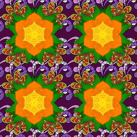 Seamless Tony fabric pattern. Vector illustration. Fashionable fabric pattern. Cute Floral pattern in the small flower.