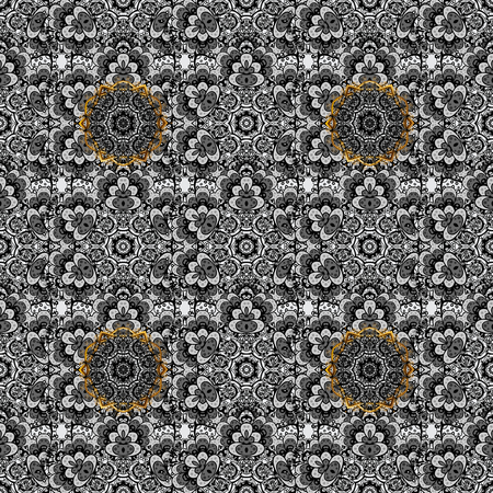 Elegant vector classic pattern. Seamless abstract background with repeating elements. Gray and dim pattern.