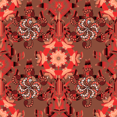 red carpet background: Seamless pattern with stylized flowers. Ornate seamless texture, pattern with abstract flowers. Floral pattern can be used for sketch, background fills, web page background.