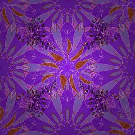 Vector sin patrón floral. Flores del valle en colores violetas, neutros y rosados. Foto de archivo - 87228249
