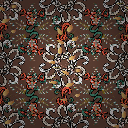 Floral background. Vector pattern. Nature. Flower composition. Nice pattern in the small flower. Floral collage. -brown, black and beige flowers.