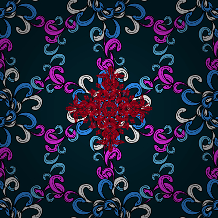 Classic oriental background with colorfil doodles. Damask seamless ornament. Traditional vector and ornamental pattern. Ilustrace