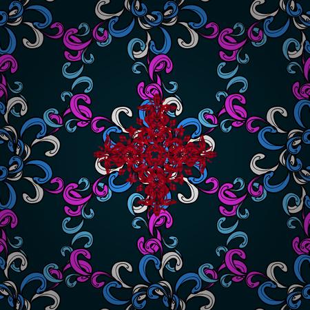 Colorfil 落書きを古典的な東洋の背景。ダマスク織のシームレスな髪飾り。伝統的なベクトルと装飾的なパターン。