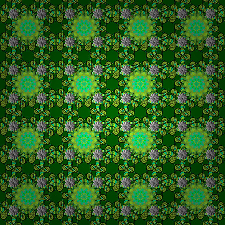 textile image: Tender seamless pattern with flowers. Vector illustration. Vector floral illustration in vintage style. Gentle, spring floral on green, black and gray colors.