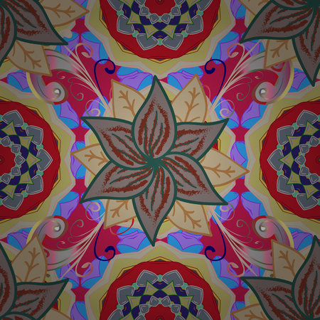 Flat Flower Elements Design. Illustration