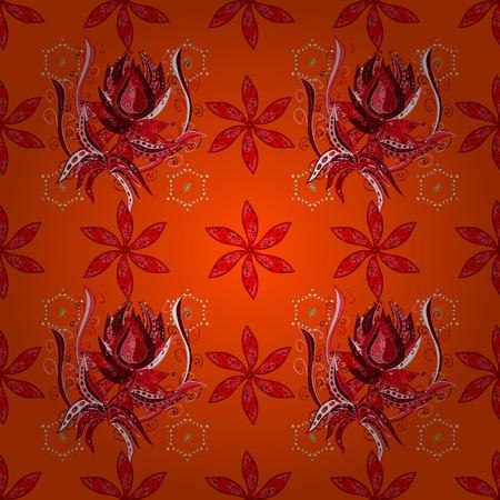 red carpet background: Floral pattern vector illustration.