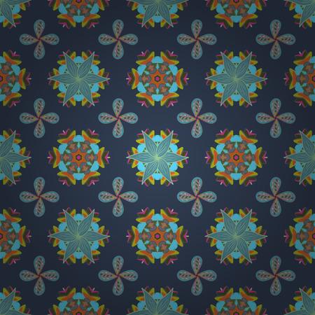 ベクトル。小さな花を持つ単純な花柄シームレス パターン。ファッションのためのエレガントな装飾的な飾りを印刷、スクラップ ブック、包装紙、