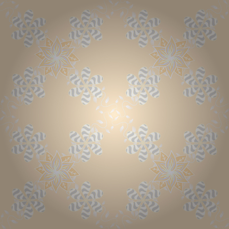paintings: Flowers on beige, neutral and gray colors. Vector illustration. Seamless flower pattern can be used for sketch. Illustration