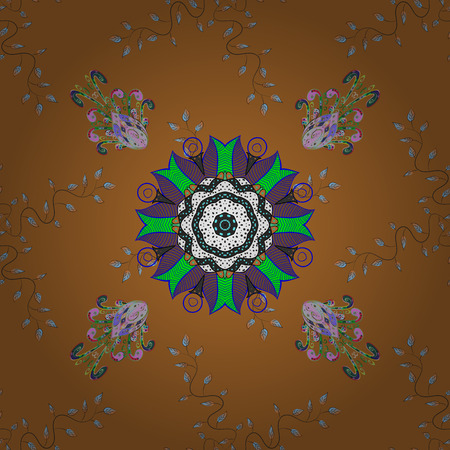 paintings: Vector illustration. Seamless pattern in small flower. Beautiful fabric pattern. Cute floral background.