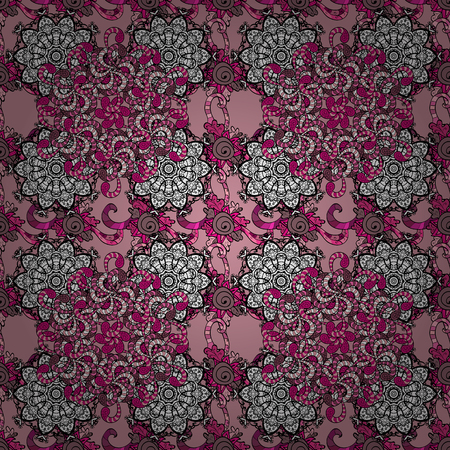 pink and black: Colour Spring Theme seamless pattern Background. Flat Flower Elements Design. Cute flower vector pattern. Flowers on black, neutral and pink colors.
