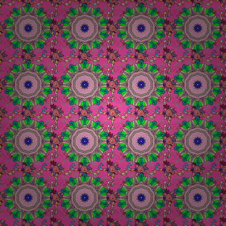 pink and black: Flowers on pink, neutral and black colors. Seamless Floral Pattern in Vector illustration.