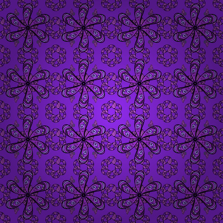 paper background: Flat Flower Elements Design. Trendy seamless Floral Pattern In Vector illustration. Colour Summer Theme seamless pattern Background. Flowers on violet, black and purple colors.