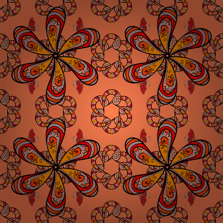 simple: Vector watercolour floral pattern, delicate flowers, orange, black and neutral flowers, greeting card template. Beautiful fabric pattern. Illustration