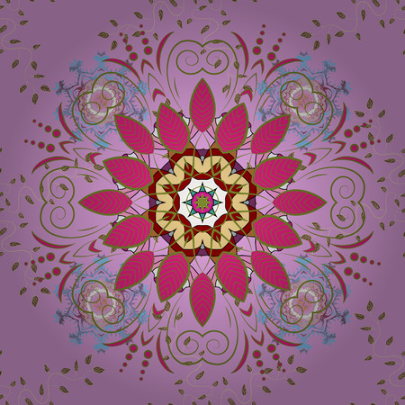 It can be used on mug prints, baby apparels, sketch, wrapping boxes etc. Elegant, bright and seamless pink, green and magenta flower pattern design.