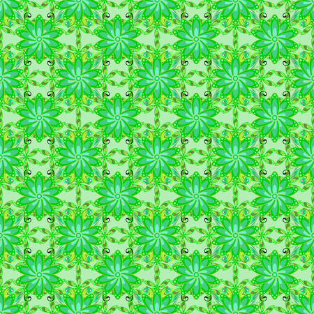 Abstract vector seamless pattern flower design in green, neutral colors Floral seamless pattern with watercolor effect. Textile print for bed linen, jacket, package design, fabric and fashion concepts