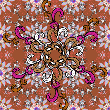 Gentle, spring floral on black, brown and neutral background. Vector illustration. Vector floral pattern in doodle style with flowers and leaves.