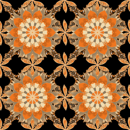 patten: Border Indian floral Paisley patten. Can be used for greeting business card background, coloring book, backdrop, textile. Vector Henna style. Ethnic Mandala towel. Seamless ornament print.
