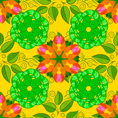 Vector Hip fabric pattern. Seamless Vintage Flower Pattern. Illustration