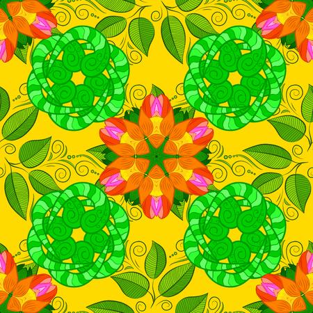 pied: Vector Hip fabric pattern. Seamless Vintage Flower Pattern. Illustration
