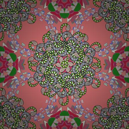 motley: Pretty floral print motley seamless pattern.