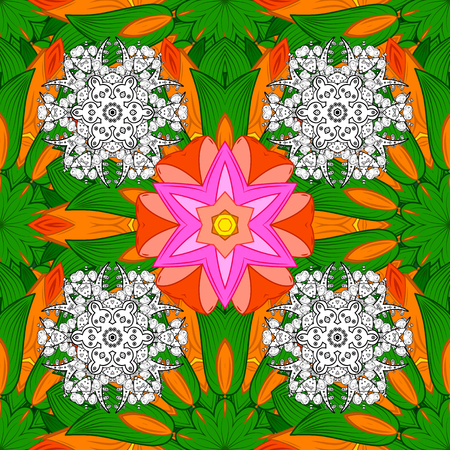 Abstract colored Mandala background