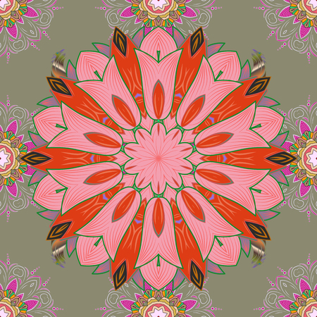Nice Floral pattern in the small flower. Seamless floral pattern with flowers, watercolor. Vector pattern.