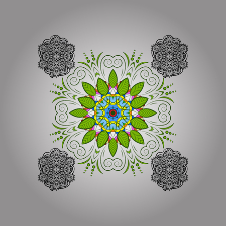 Round ornamental mandala for coloring book Isolated design element Vector illustration. Stock Vector - 88700637