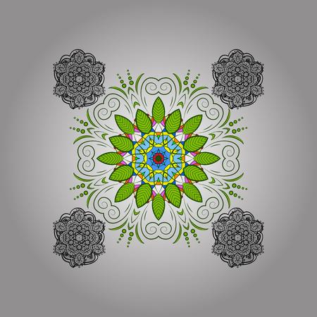Round ornamental mandala for coloring book Isolated design element Vector illustration. Illustration