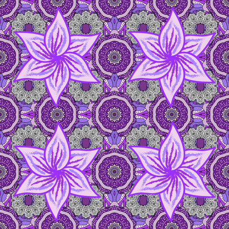 Vector watercolour floral pattern, delicate flowers, neutral, violet and purple flowers, greeting card template. Beautiful fabric pattern. Illustration