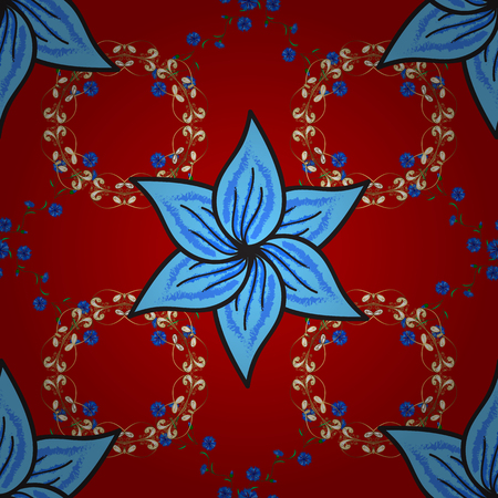Flower painting pattern vector illustration.