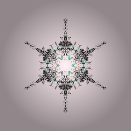 Snowflakes pettern good for background. Illustration
