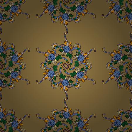 Ornamento barocco vintage mandala su sfondo colorato. Acanto stile antico modello retrò. Calligrafia a filigrana elemento decorativo di design. Illustrazione vettoriale Archivio Fotografico - 90931668