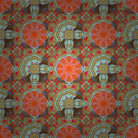 It can be used on mug prints, baby apparels, wallpaper, wrapping boxes etc. Elegant, bright and seamless neutral, orange and yellow flower pattern design. Illustration