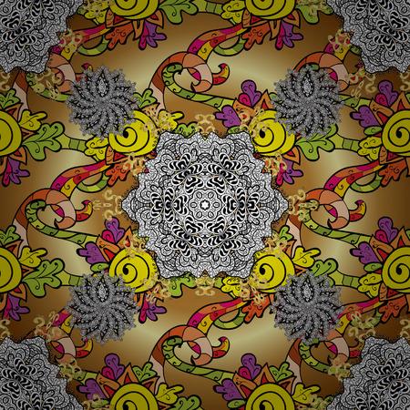Organic elements. Vector pattern. Watercolor effect. Botanical seamless pattern.