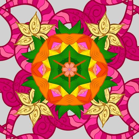 Botanical seamless pattern. Vector pattern. Organic elements. Watercolor effect.