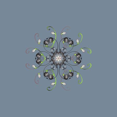 Abstrait avec des éléments floraux. Illustration vectorielle Modèle d'hiver de vecteur. Conception sur les couleurs neutres, grises et vertes. Banque d'images - 90884290