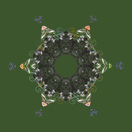 Christmas festive background. Vector illustration. Christmas snowflake of decoration on snow. Illustration