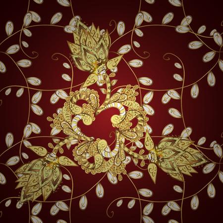 Wallpaper baroque, damask. Vector background. Pattern floral pattern. Graphic modern pattern. Illustration