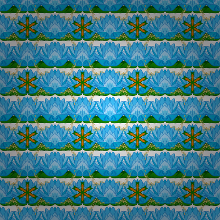 Seamless Tony fabric pattern. Fashionable fabric pattern. Cute Floral pattern in the small flower. Vector illustration.